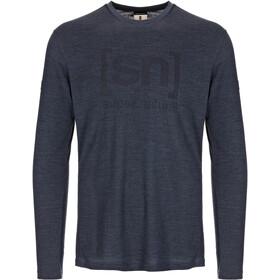 super.natural Essential I.D. Longsleeve Men navy blazer melange/jet black logo